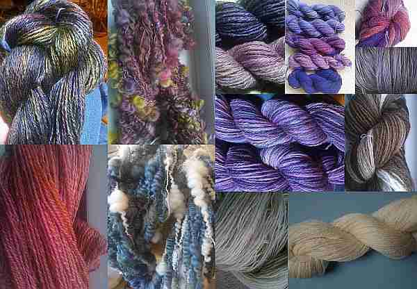 Handspun and dyed yarns